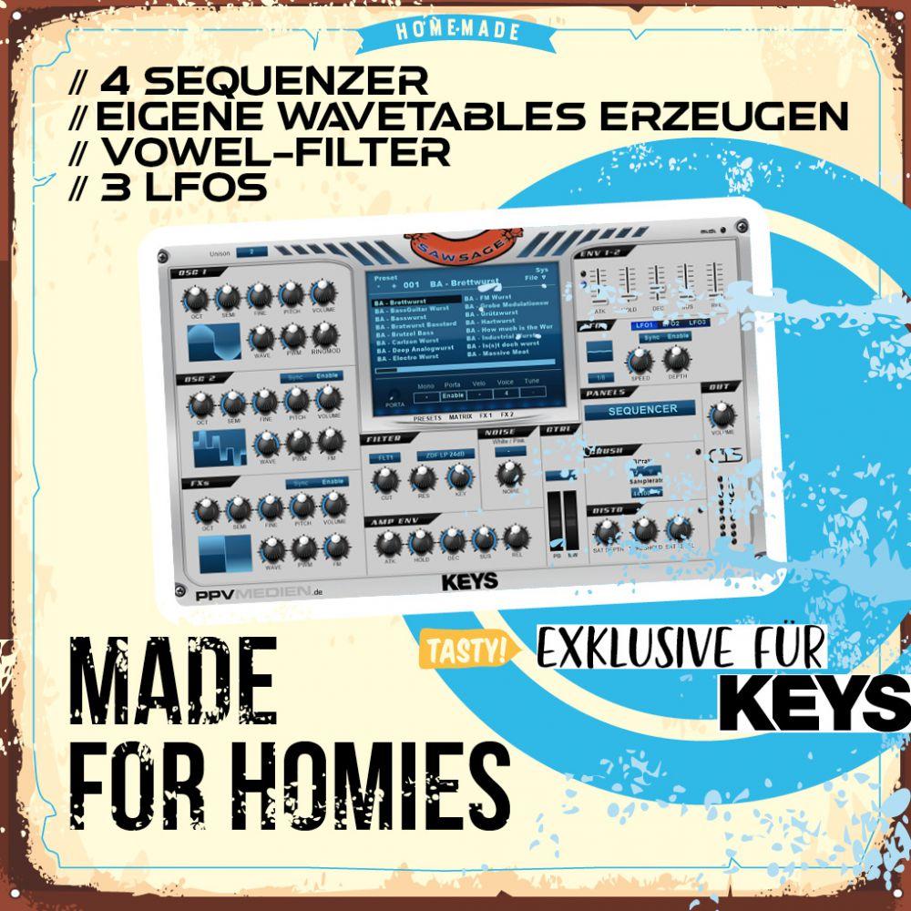 KEYS SawSage Wavetable Synthesizer