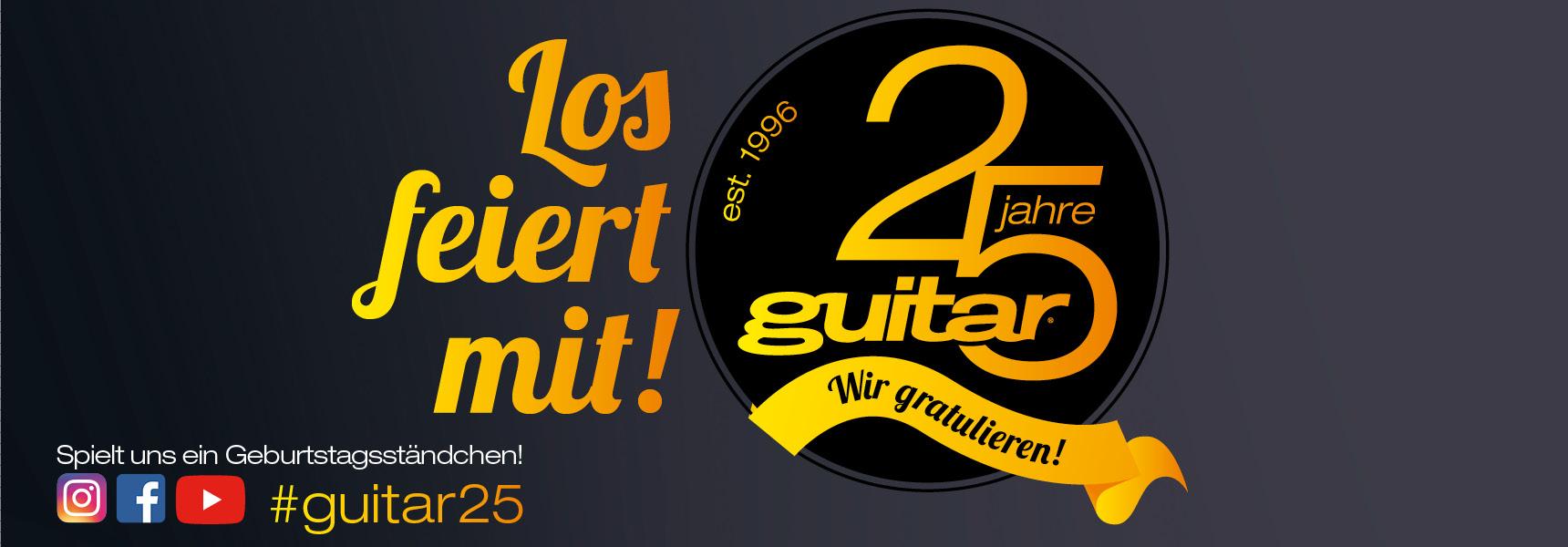 guitar-Jubiläum 25 Jahre